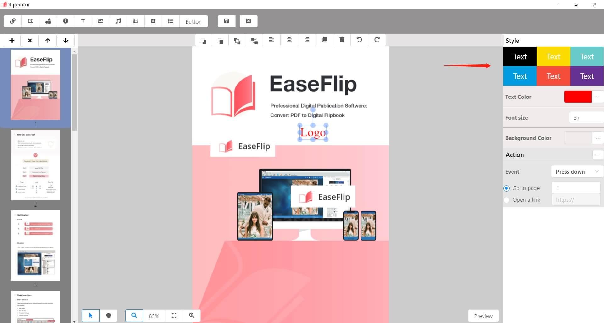 Edit Text Logo