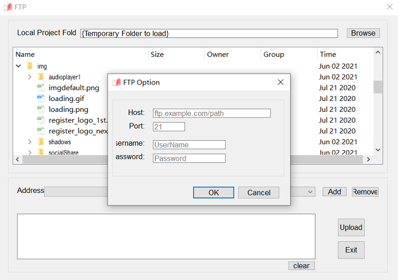 Enter FTP Server