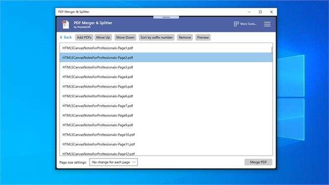 Merge PDFs Windows