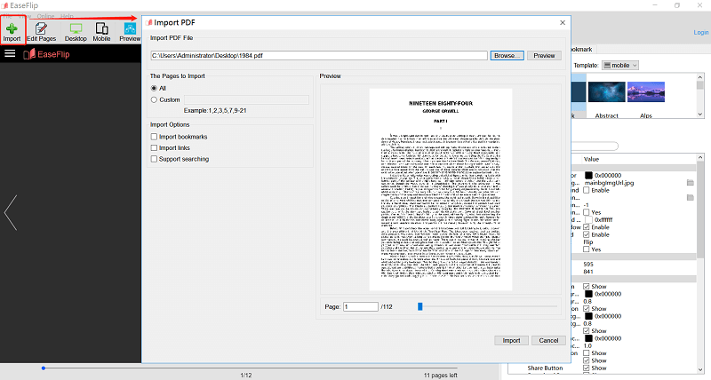 Upload PDF to EaseFlip