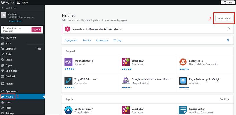 WordPress Install Plug-in