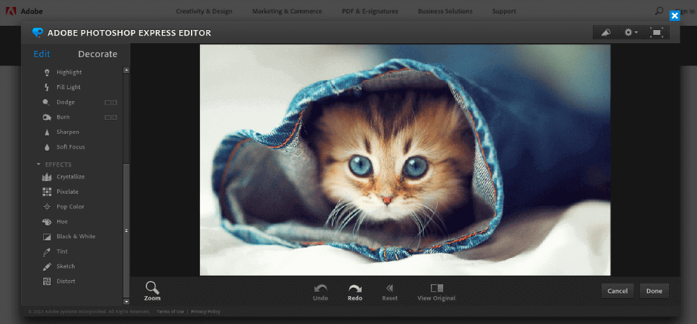 Editor de Adobe Photoshop Express