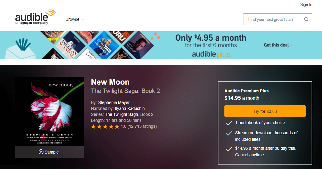 Audible New Moon