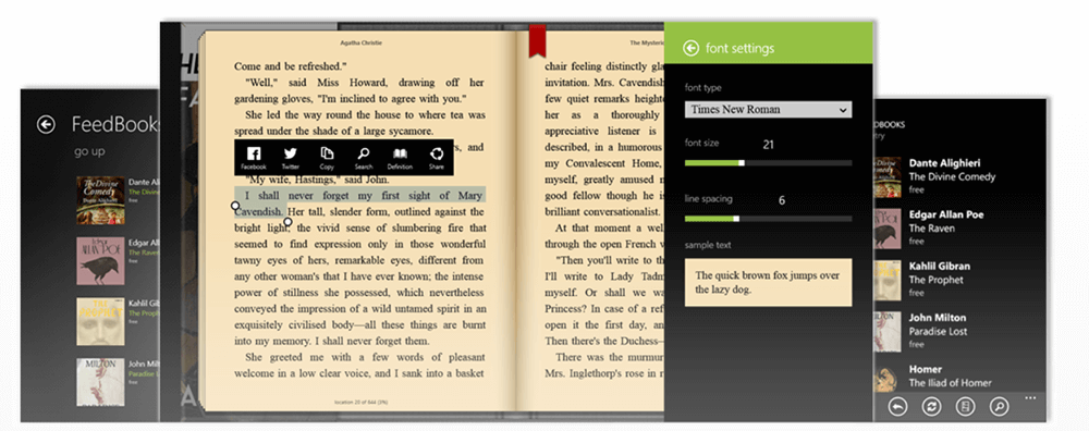 Bookviser e Book Reader