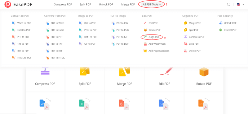 EasePDF Firmar PDF