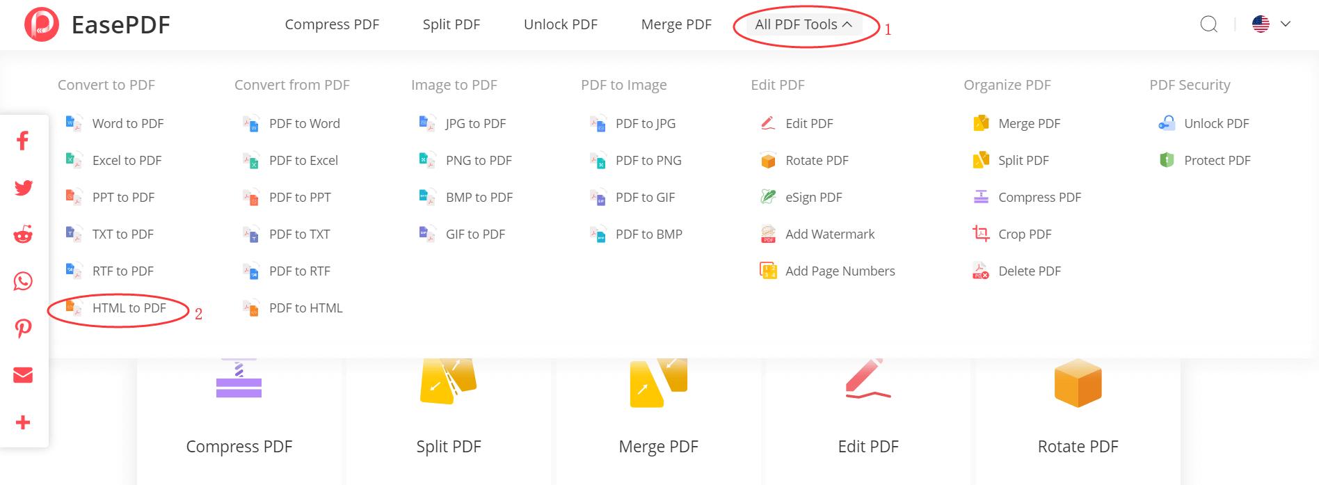 EasePDF HTML to PDF