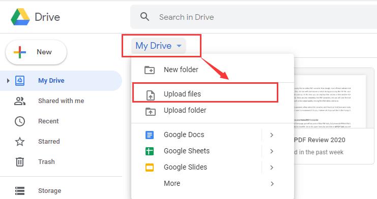 Google Drive Open RTF File