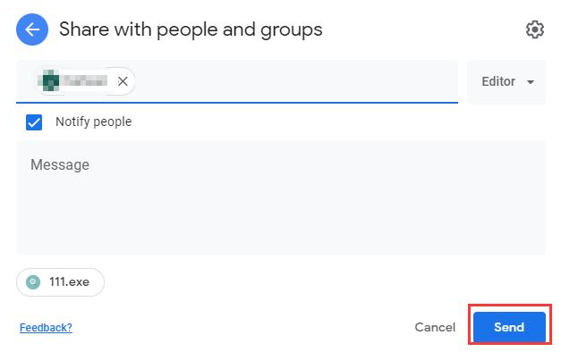 Invia file di Google Drive