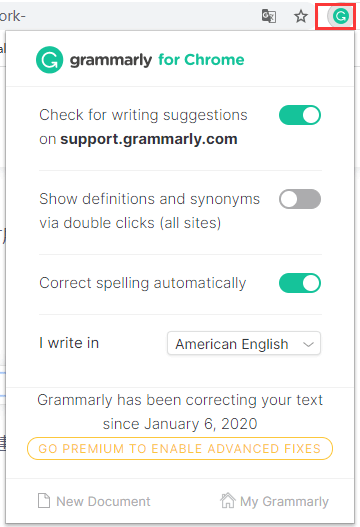 Grammarly Extension Grammarly for Chrome