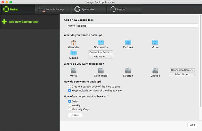 Intego Backup Assistant gratuito
