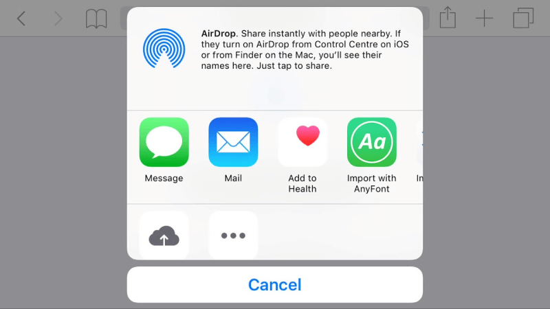 AnyFont가있는 iOS 오픈 글꼴