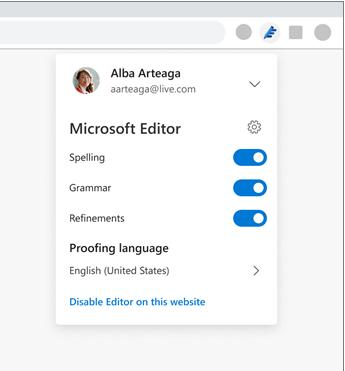 Microsoft Editor Setting
