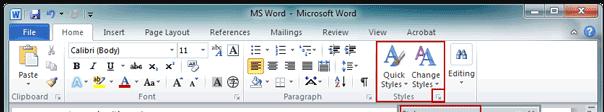 Modello di modifica di Microsoft Word