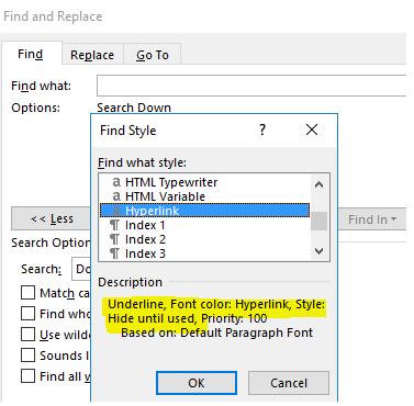 Buscar y reemplazar hipervínculo de Microsoft Word