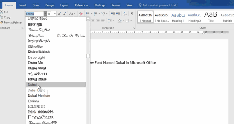 Office 365 Font Options