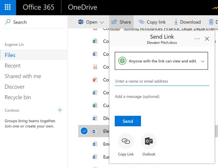 Invia file di OneDrive