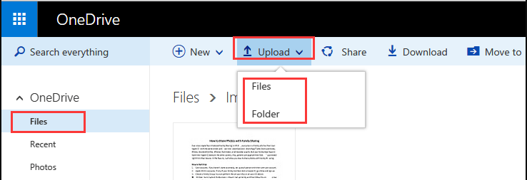 OneDrive Upload File