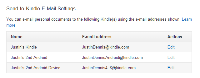 Send Ebooks to Kindle