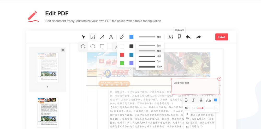 EasePDF Edit PDF