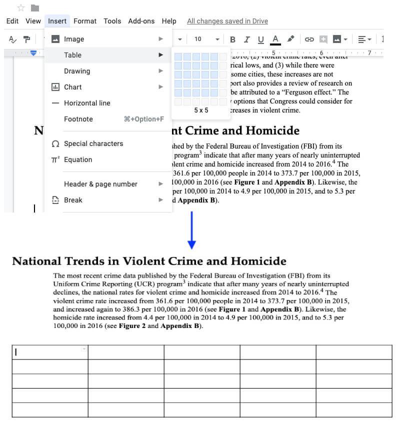 Google Docs Insert Forms to PDF