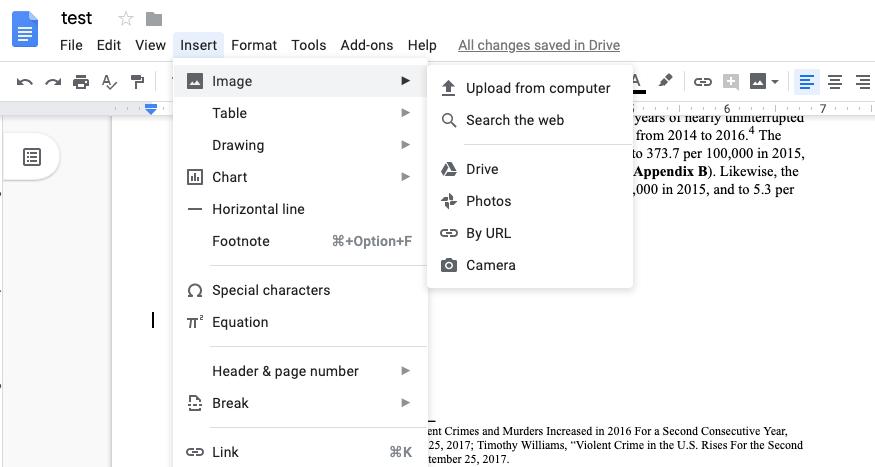 Google Docs Insert Image