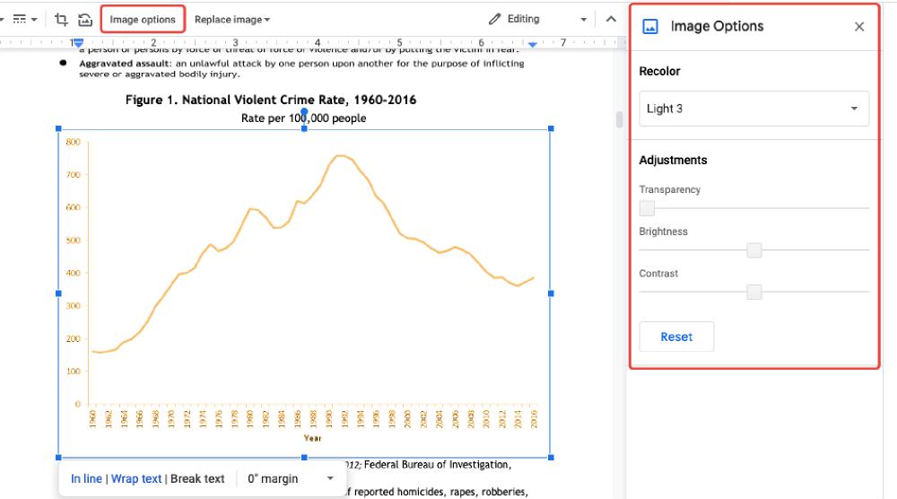 Google Docs PDF Image Options