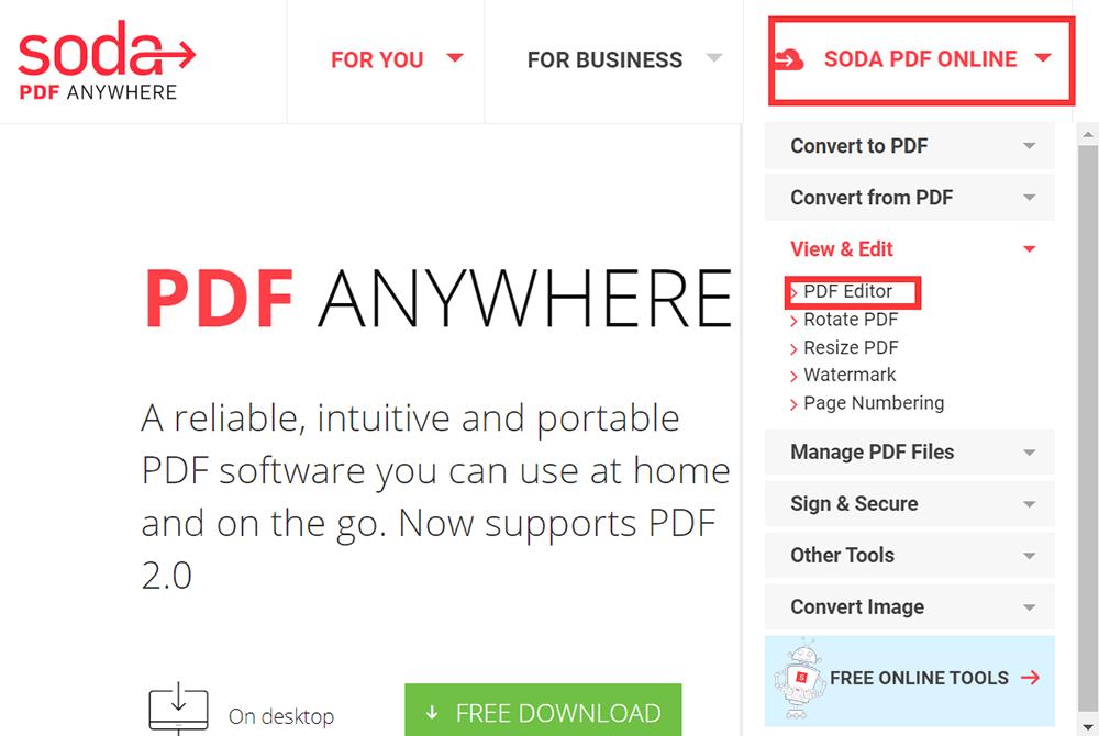 Soda PDF ONLINE PDF Editor