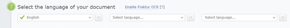 Abbyy FineReader Online Select Language