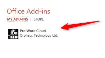 Add-Ins Pro Word Cloud