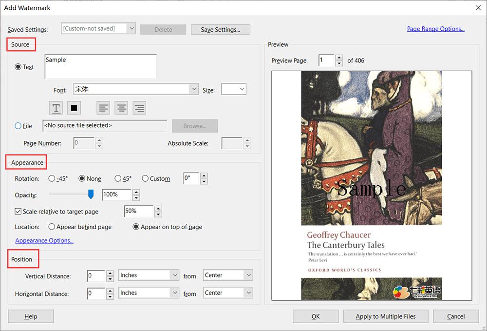 Adobe Acrobat Pro Add Watermark Custom
