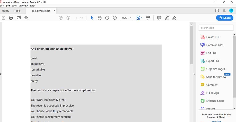 Adobe Acrobat Pro DC Sign PDF