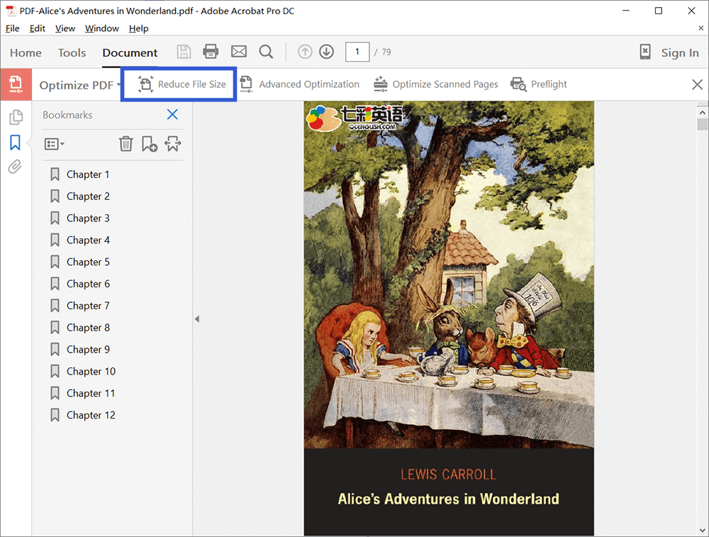 Adobe Acrobat DC Pro Reduce File Size