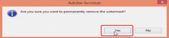 Adobe Acrobat Pro Entfernen Sie die Wasserzeichenbestätigung