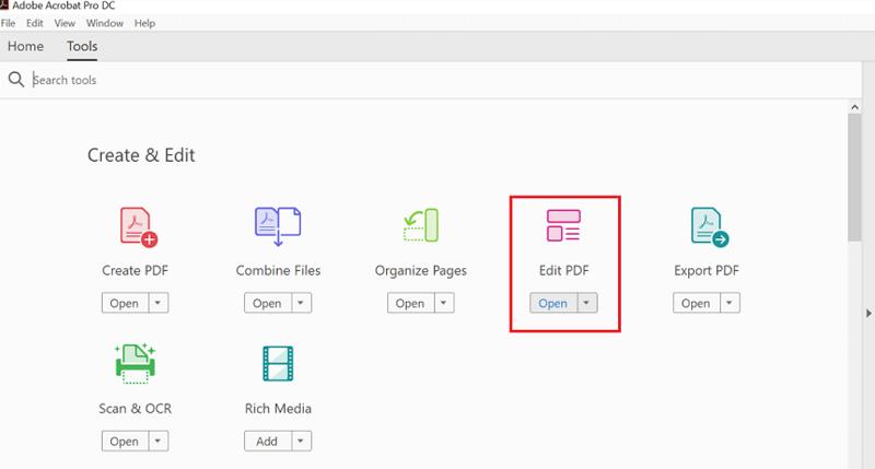 Adobe Acrobat Pro PDF bearbeiten