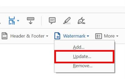 Adobe Acrobat Pro Update Watermark