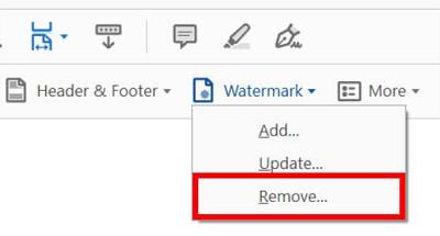 Adobe Acrobat Pro Watermark Remove