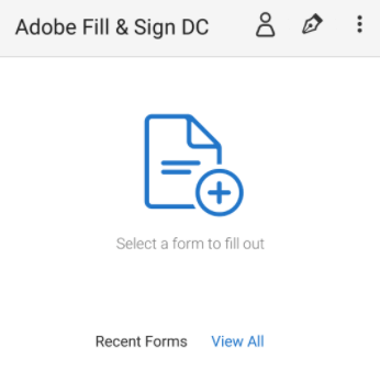 Adobe Fill and Sign Select PDF