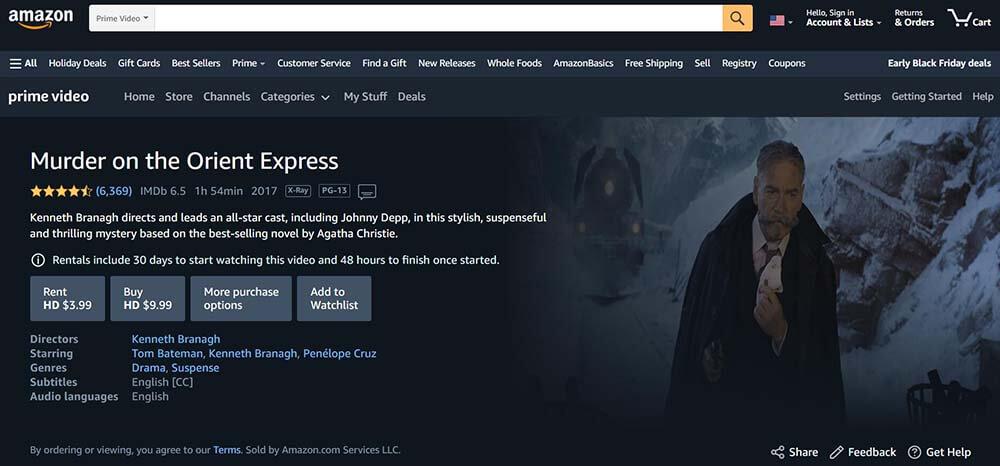 Amazon Prime Murder im Orient Express