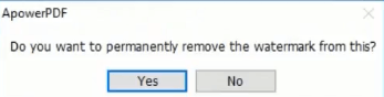 ApowerPDF Remove Watermark