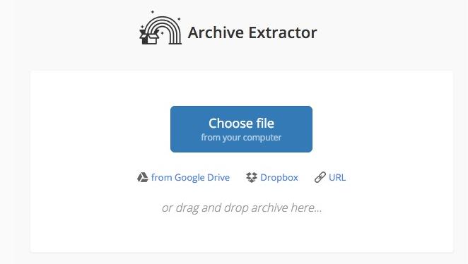 Archive Extractor Elija archivo RAR