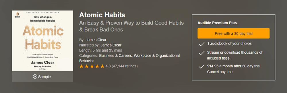 Atomic Habits Audiobook Resource