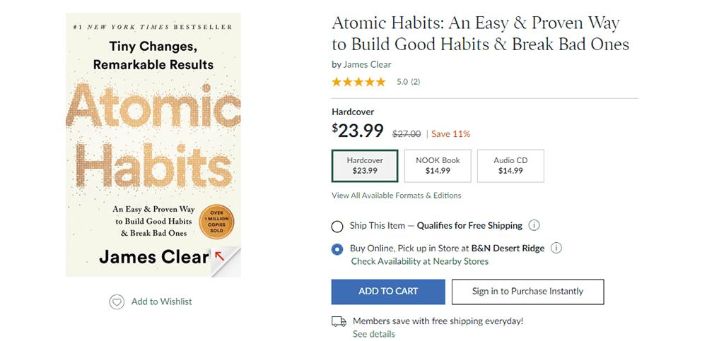 Atomic Habits Hardcover Resource
