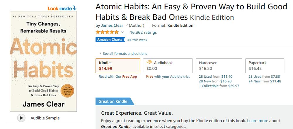 Atomic Habits Kindle Resource