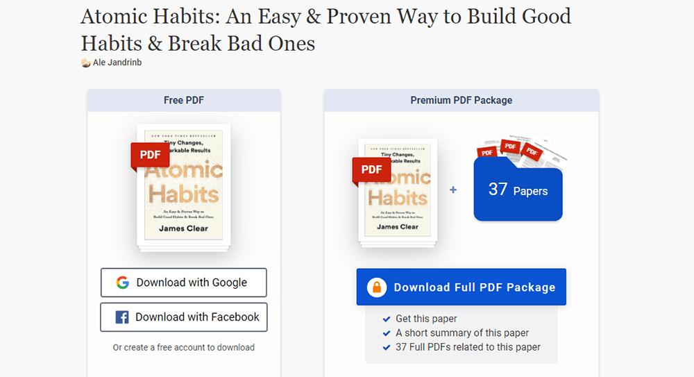 Atomic Habits PDF Resource
