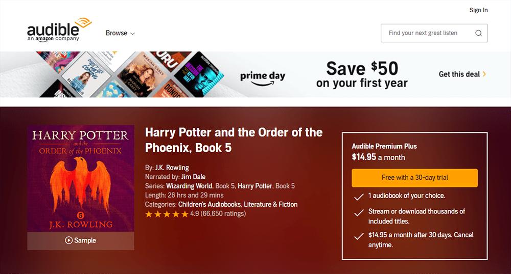 Hörbarer Harry Potter und der Orden des Phönix