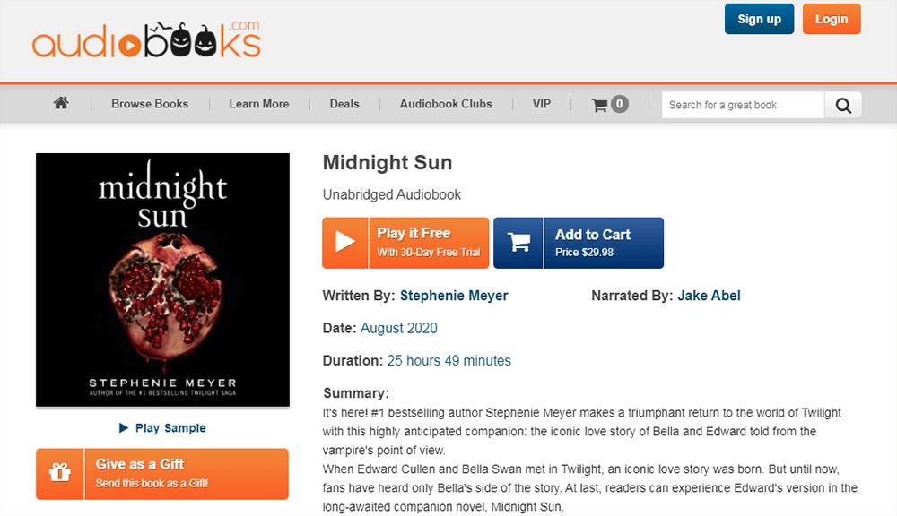 Audiobooks Midnight Sun