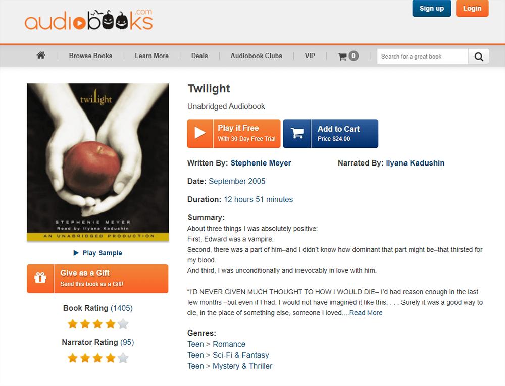Audiobooks Twilight