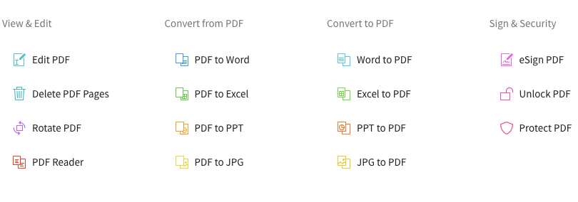 Multiple Converting Formats Options