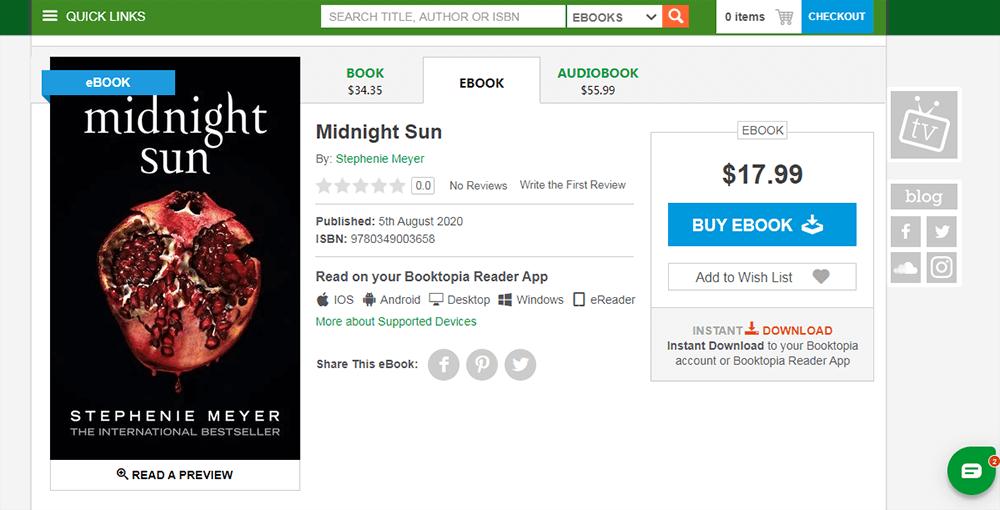 Booktopia Midnight Sun