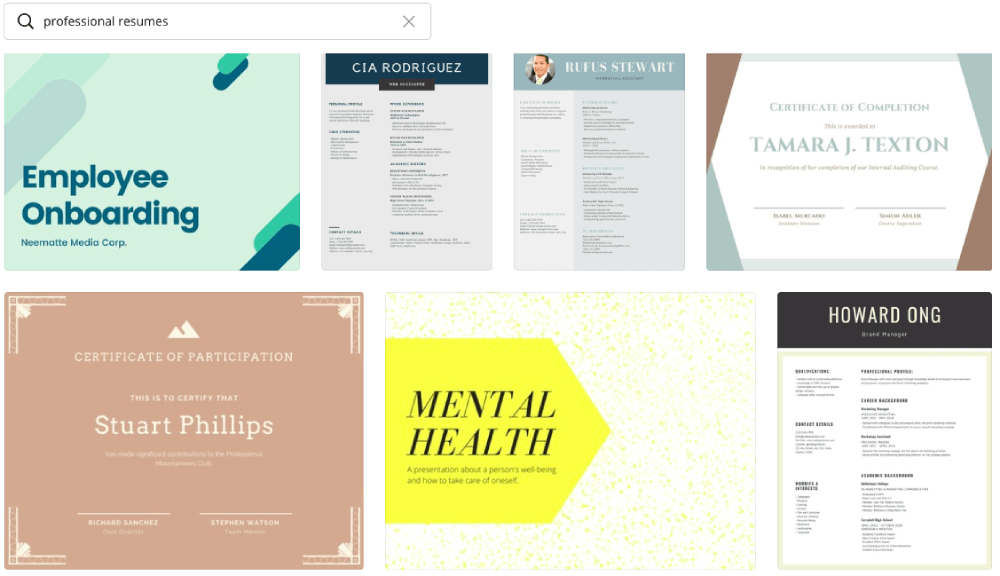 Resume Templates Canva
